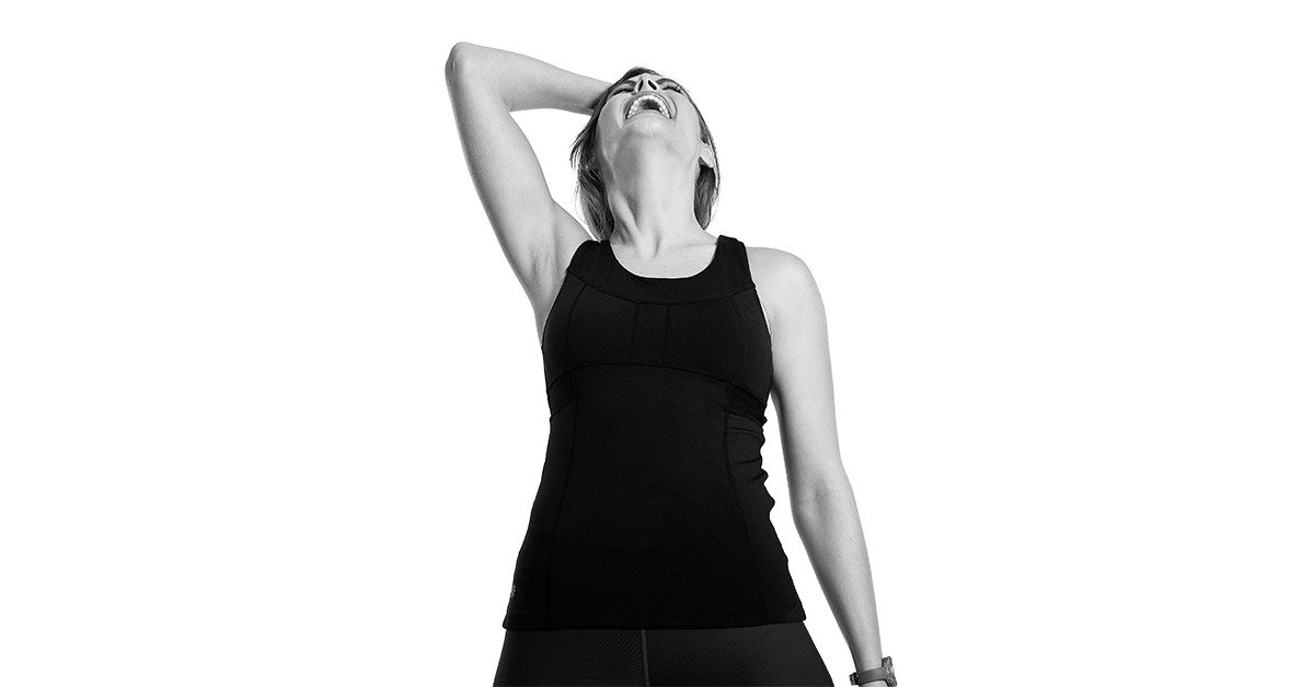 Woman excited about her fat burning treadmill workout.