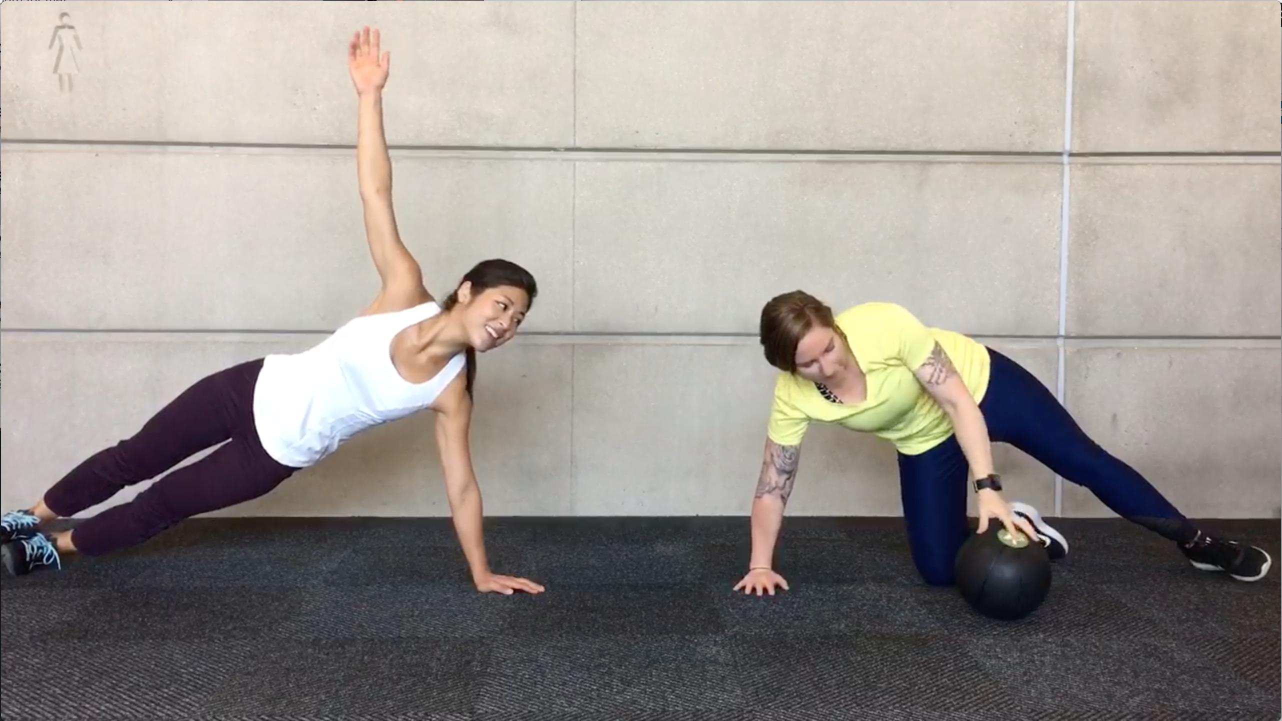 medicine ball partner workout
